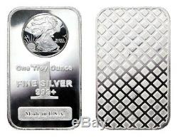 100 1 Troy oz silver bars. 999 Pure Silver Walking Liberty Bars (MINT FRESH)