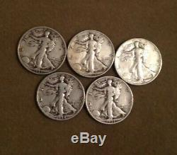 $100 Face Value Bag 90% Silver Walking Liberty Halves Silver Coin Lot