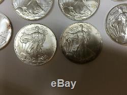 (10) Walking Liberty 1 Oz. Fine Silver Silver Dollar American Silver Eagle
