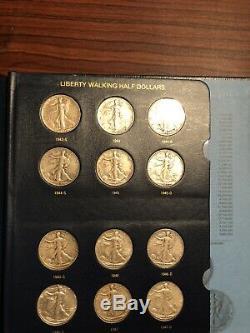 1916-1947 Complete Set Of Walking Liberty half Dollars In Nice Whitman Album
