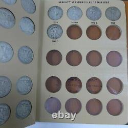 1916-1947 PDS Walking Liberty Half Dollar Complete Set 65 Coins in Dansco Album