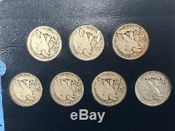 1916-1947 PDS Walking Liberty Silver Half Dollar COMPLETE Set 65 Coins Keys Q1