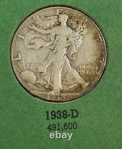 1916 1947 PDS Walking Liberty Silver Half Dollar Nearly Complete (61) Coin Set