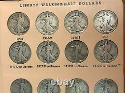 1916-1947 Silver Walking Liberty Half Dollar Set COMPLETE 65 Coins DANSCO 1921-D