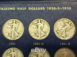 1916-1947 Silver Walking Liberty Half Dollar Set Complete 65 Coins with1921 1921-D