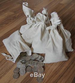 1916-1947 Walking Liberty Half Dollar 90% Silver Circulated Lot of 50 Coins