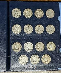 1916-1947 Walking Liberty Half Dollar Complete Set Of 65 With 1921P/D/S 1938D +++