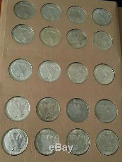 1916 -1947d Silver Liberty Walking Half Dollar Set Complete In 7160 Dansco Album