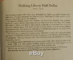 1916-36 WALKING LIBERTY HALF DOLLARS NEW HARRIS missing 1 coin FOLDER BOOK WL11