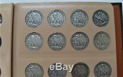 1916-47 COMPLETE SILVER WALKING LIBERTY HALF DOLLAR SET(65 COINS) Better
