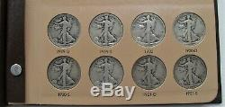1916-47 Complete Silver Walking Liberty Half Dollar Set(65 Coins)