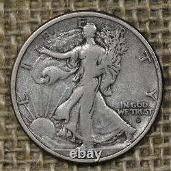 1916-D 50C VF+ Walking Liberty Half Dollar