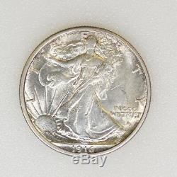 1916-D CHOICE BU Cond Walking Liberty Half Dollar Tough Date 1st Year- I-14627 M