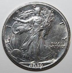1916-D Liberty Walking Half Dollar 90% Silver 10% Copper Free Shipping