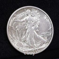 1916-D Liberty Walking Half Dollar AU/Ch AU Details (#34561)