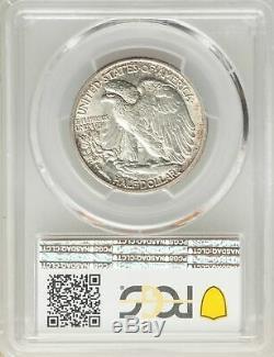 1916-D US Silver 50C Walking Liberty Half Dollar PCGS MS63 CAC