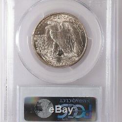 1916-D Walking Liberty 50C PCGS Certified MS65 Denver Mint Silver Half Dollar