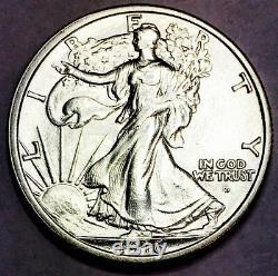 1916 D Walking Liberty 50 Cent Piece! Absolute Screamer! Superb Gem! Wow! #1956