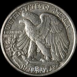 1916-D Walking Liberty Half Choice AU/BU Nice Eye Appeal Nice Strike