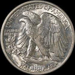 1916-D Walking Liberty Half Choice BU Blast White Great Eye Appeal Strong Strike