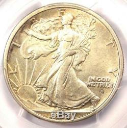 1916-D Walking Liberty Half Dollar 50C Certified PCGS AU Details Rare Date