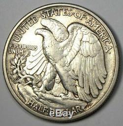 1916-D Walking Liberty Half Dollar 50C Coin AU Details Rare Date
