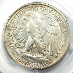 1916-D Walking Liberty Half Dollar 50C PCGS Certified AU Detail Rare Date