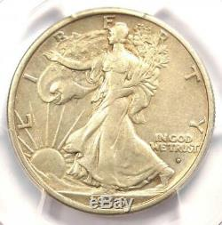 1916-D Walking Liberty Half Dollar 50C PCGS XF Details Rare Date Coin