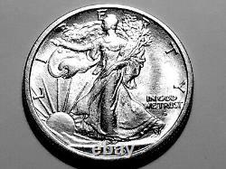 1916-D Walking Liberty Silver Half Dollar Gem BU #4