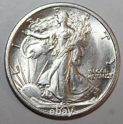 1916 Liberty Walking Half Dollar 90% Silver 10% Copper Free Shipping