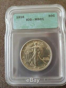 1916 P Silver Walking Liberty Half Dollar