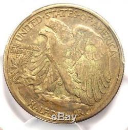 1916-S Walking Liberty Half Dollar 50C Certified PCGS VF35 Rare Date Coin