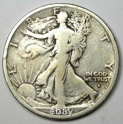 1916-S Walking Liberty Half Dollar 50C Coin Fine Details Rare Date