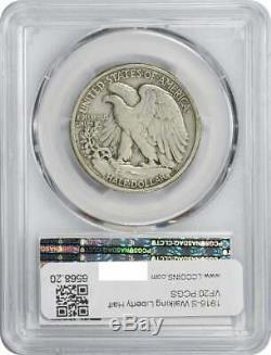 1916-S Walking Liberty Silver Half Dollar, VF20, PCGS
