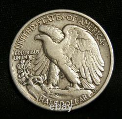 1916 Walking Liberty Half Vf