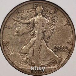 1916 Walking Liberty half dollar, old ANACS EF40, nice orig DavidKahnRareCoins