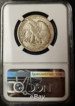 1916-d Walking Liberty Half Dollar Ngc Ms 62 #002