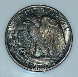 1916-d Walking Liberty Half Dollar Ngc Ms-65 50c Gem Bu Unc Toned Trusted