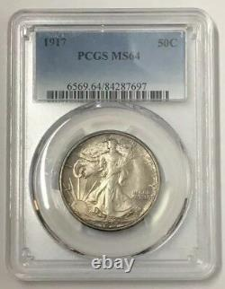 1917 50C Walking Liberty Half Dollar PCGS MS64