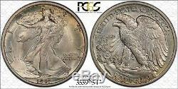1917 50C Walking Liberty PCGS MS65 CAC-Verified Silver Half Dollar Gem