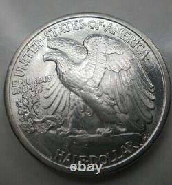 1917-D Liberty Walking Half Dollar Obverse Choice Uncirculated BU MS Key Date