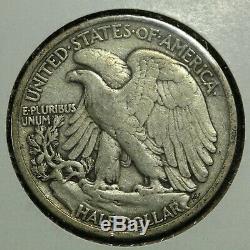 1917 D Obverse Mint Mark Walking Liberty Silver Half Dollar