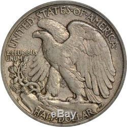 1917-D Rev 50c Walker Walking Liberty Half Dollar ICG EF45 ToughCOINS