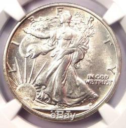 1917-D Walking Liberty Half Dollar Obverse 50C. NGC Uncirculated Detail (UNC MS)