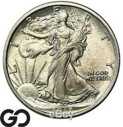 1917-S Walking Liberty Half Dollar, Reverse MM, Lustrous Gem BU++ Key Date
