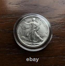 1917 Silver Walking Liberty Half Dollar. Choice Bu Condition