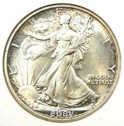 1917 Walking Liberty Half Dollar 50C Certified ANACS MS61 (BU UNC) Rare Date