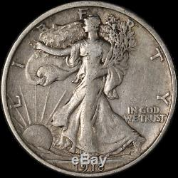 1918-D Walking Liberty Half Choice VF/XF Great Eye Appeal Strong Strike