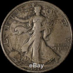 1919-D Walking Liberty Half Choice F/VF Great Eye Appeal Nice Strike