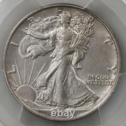 1919 Walking Liberty 50C PCGS Certified AU53 Seated Liberty US Mint Silver Half
